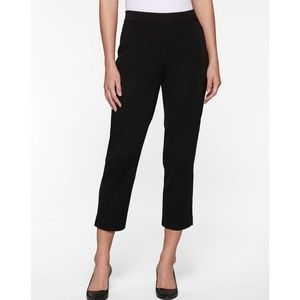 MISOOK Black Knit Ankle Crop Pull-on Pants Large